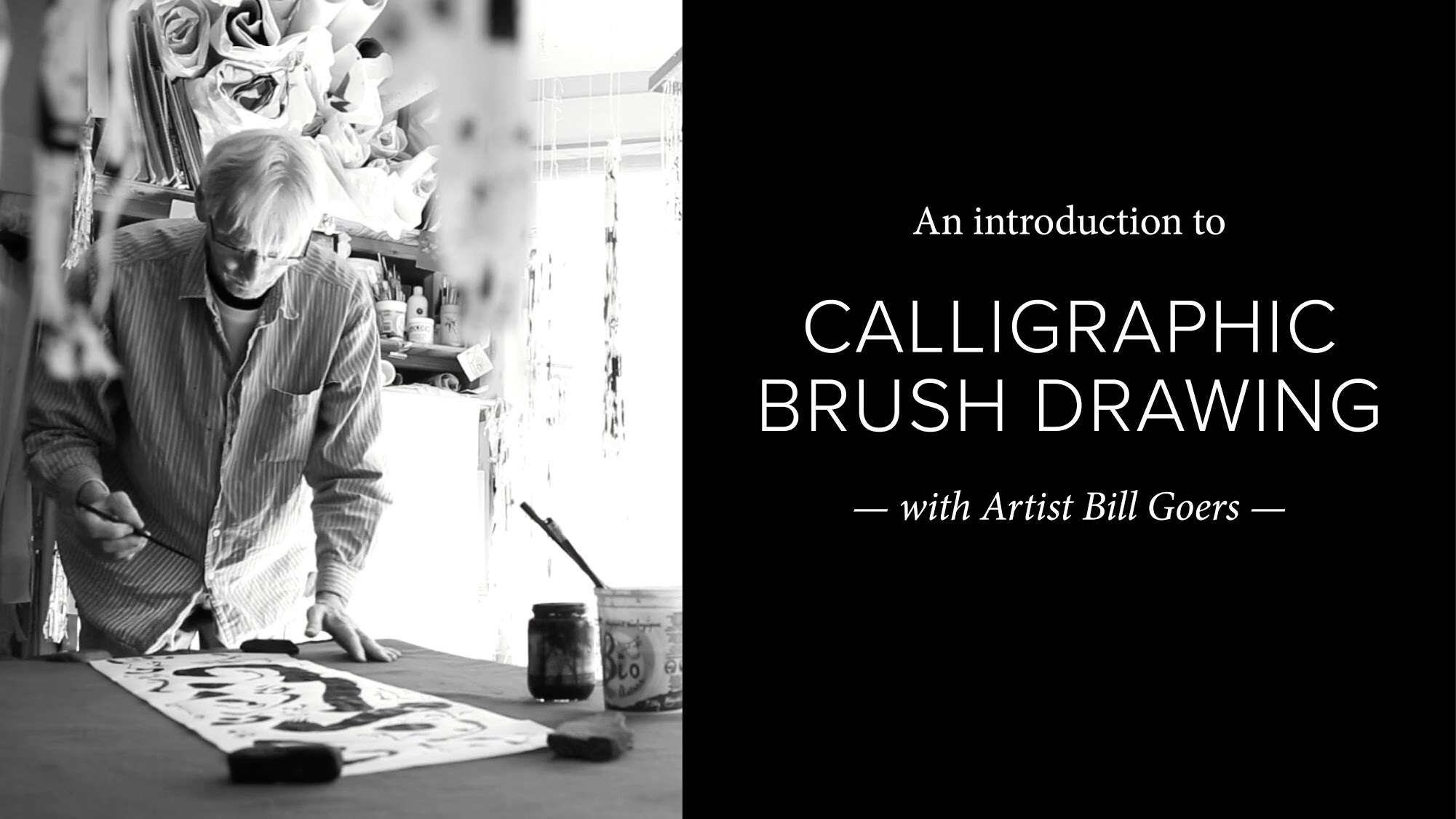 bill goers, calligraphic brush drawing